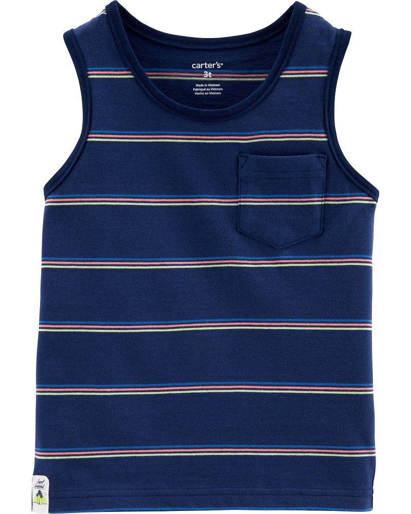 Camiseta regata listrada - Carters  - Kaiuru Kids