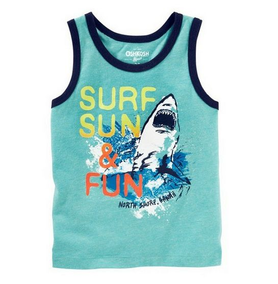 Camiseta regata tubarão - OshKosh - Kaiuru Kids - roupas e ... 06832c67dba53