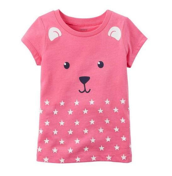 Camiseta rosa urso - Carter