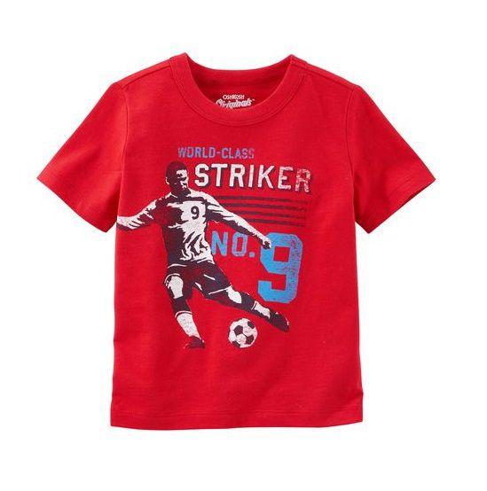 Camiseta vermelha soccer - OshKosh  - Kaiuru Kids