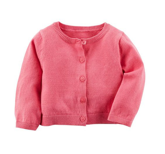 Cardigan de linha rosa pink - Carter