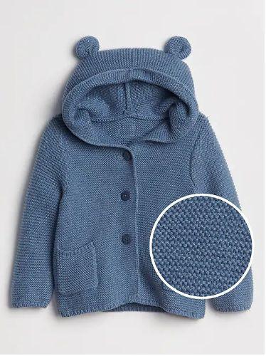 Casaco de lã urso azul - GAP  - Kaiuru Kids