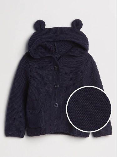 Casaco de lã urso azul marinho - GAP  - Kaiuru Kids