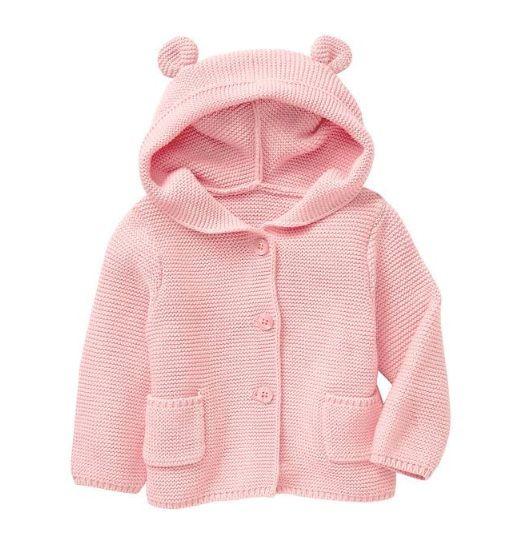 Casaco de lã urso rosa - GAP  - Kaiuru Kids