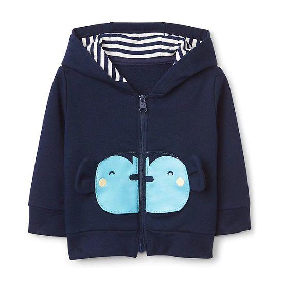Casaco de moletom azul macaco - GAP  - Kaiuru Kids