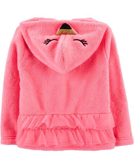 Casaco felpudo rosa flamingo - OshKosh  - Kaiuru Kids