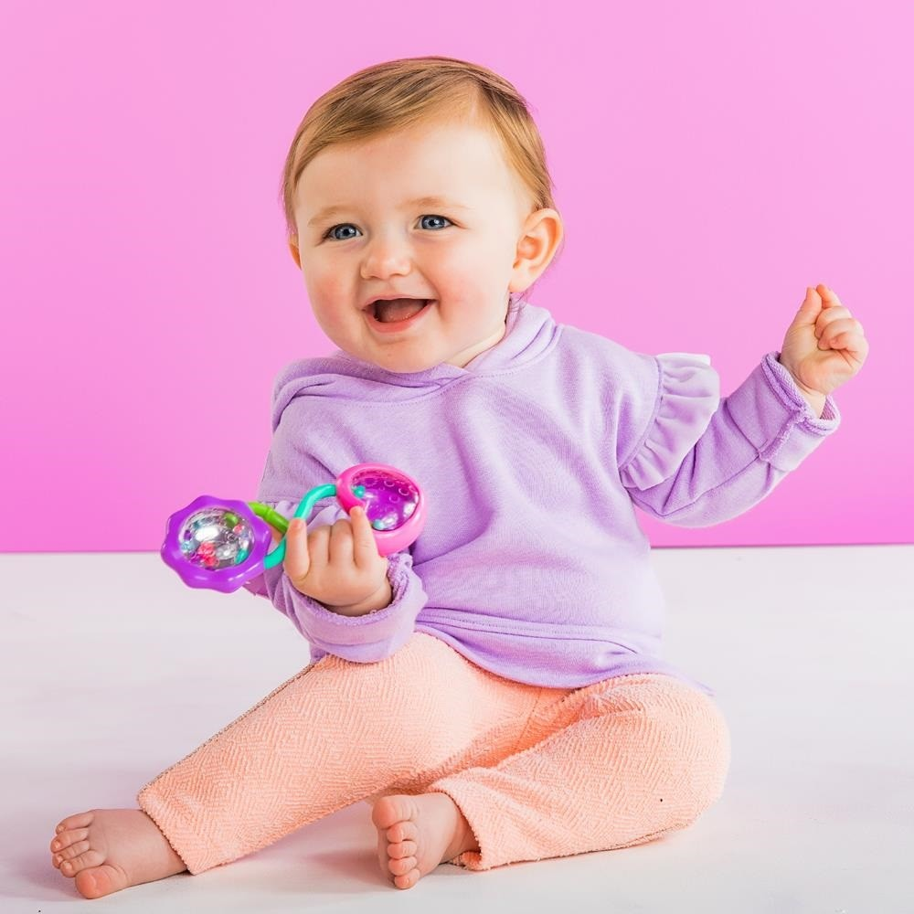 Chocalho Pip Rattle e Shake Barbell - Bright Starts - Kaiuru Kids
