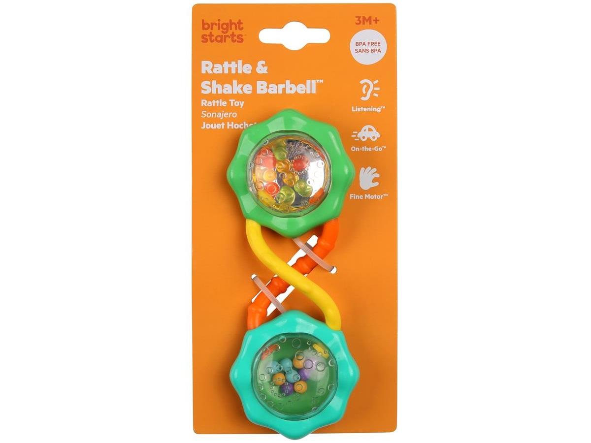 Chocalho Rattle e Shake Barbell Verde 3M+ Bright Starts  - Kaiuru Kids