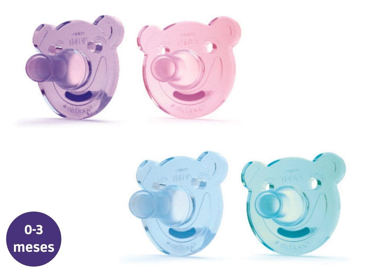 Chupeta de silicone Soothie Urso 0-3M Avent  - Kaiuru Kids