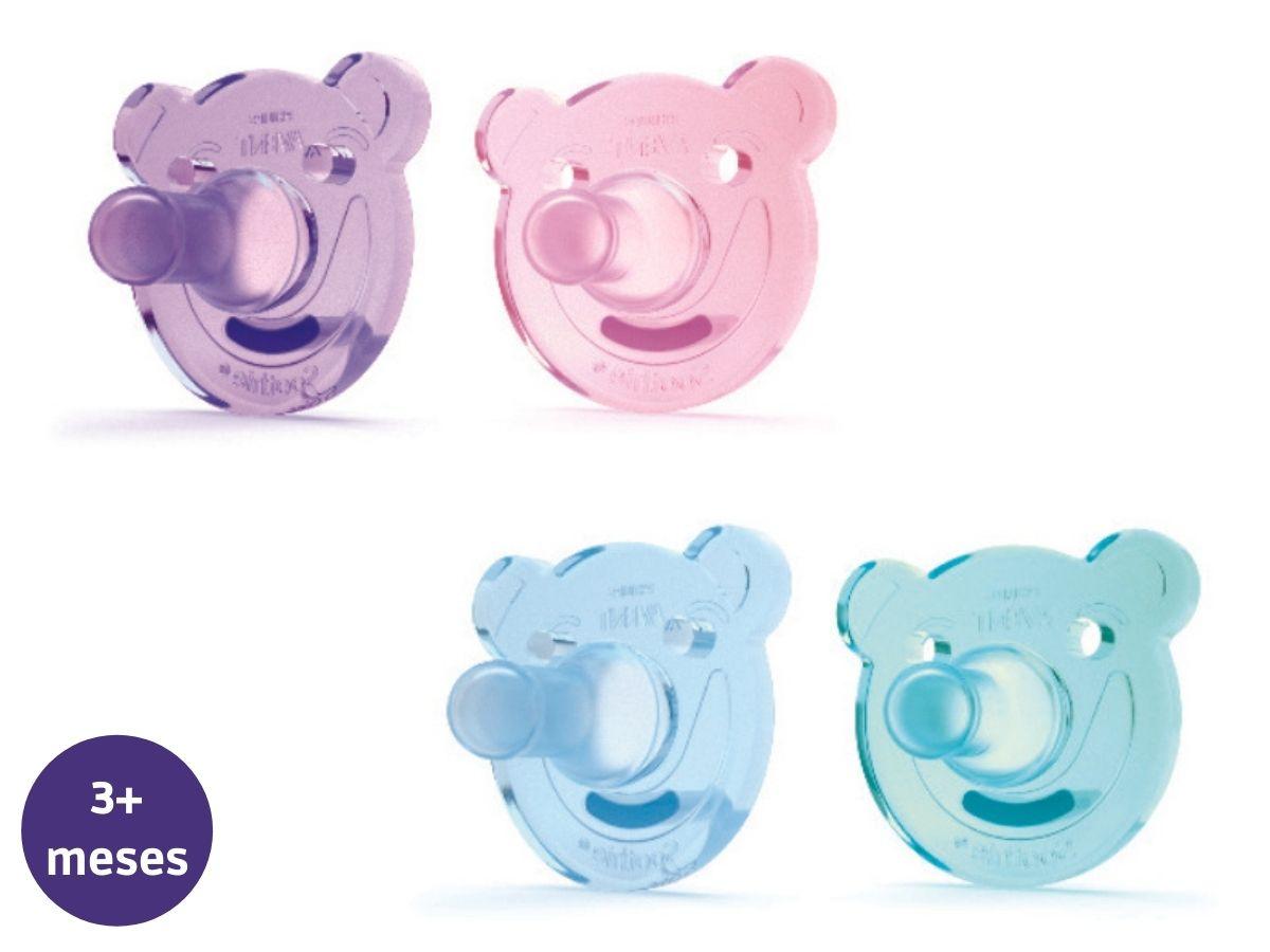 Chupeta de silicone Soothie Urso 3M+ Avent  - Kaiuru Kids