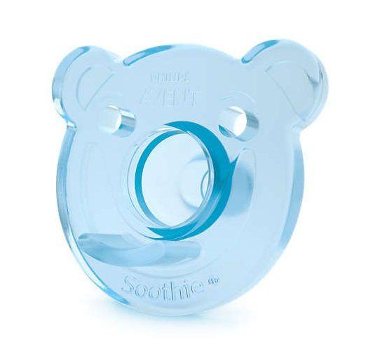 Chupeta de silicone Urso 0-3M azul e verde - Avent  - Kaiuru Kids