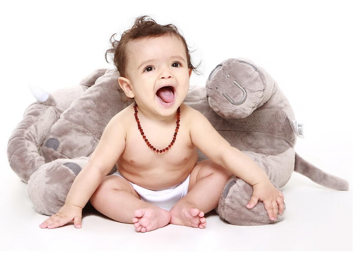 Colar de âmbar baroque Conhaque 32 cm - Âmbar Baby Care  - Kaiuru Kids