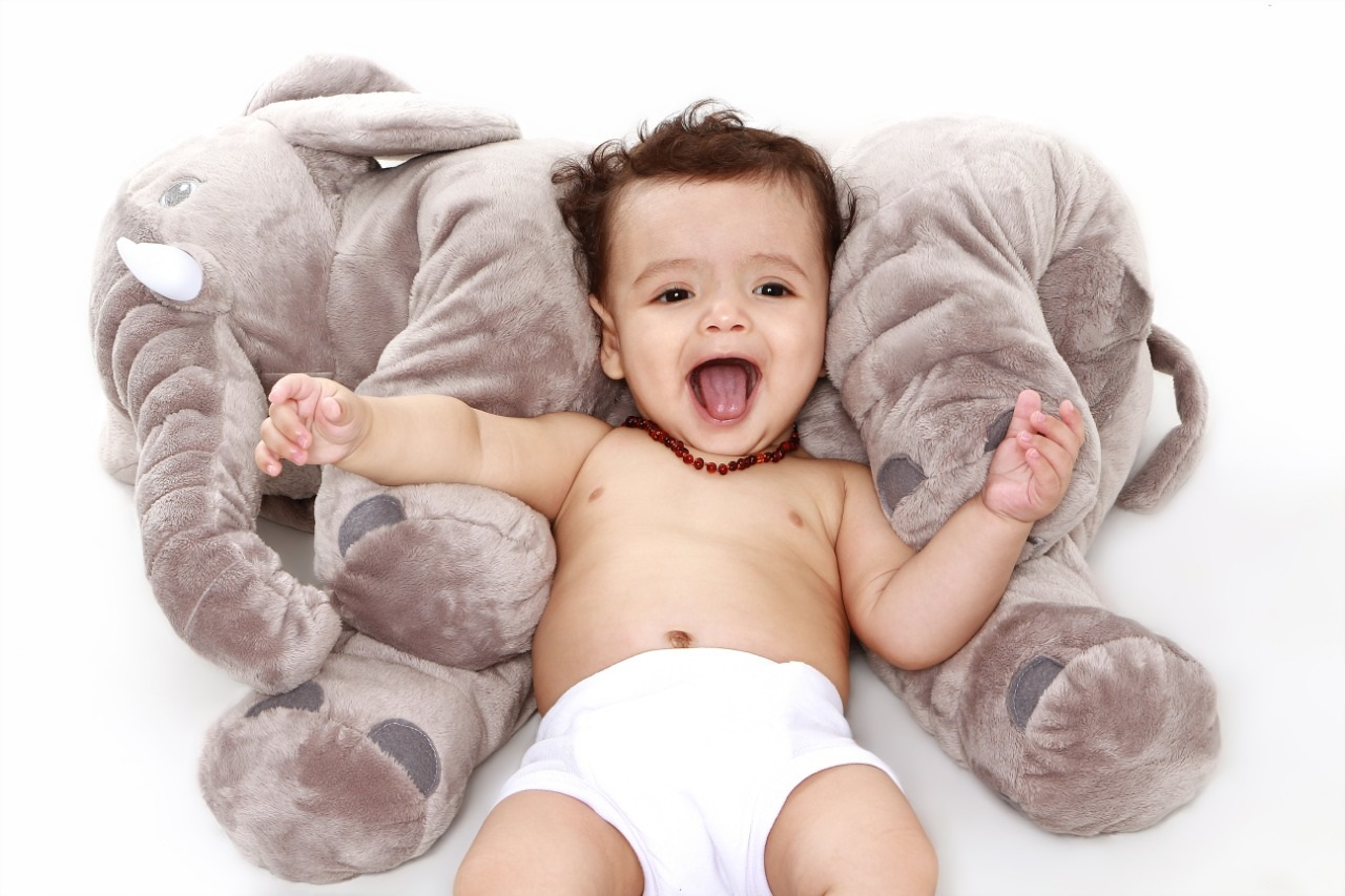 Colar de âmbar baroque Conhaque 36 cm - Âmbar Baby Care  - Kaiuru Kids