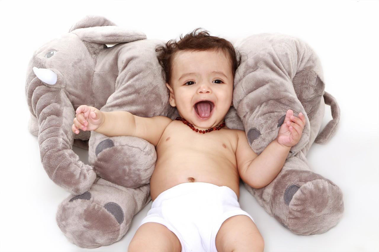 Colar de âmbar baroque Mel 32 cm - Âmbar Baby Care  - Kaiuru Kids