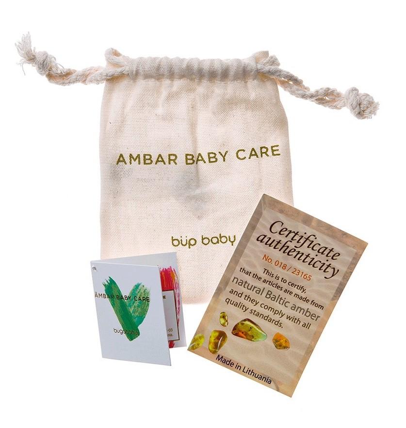 Colar de âmbar baroque Mel 36 cm - Âmbar Baby Care  - Kaiuru Kids