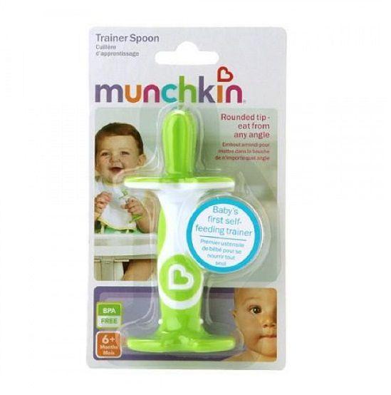 Colher de treinamento verde - Munchkin  - Kaiuru Kids