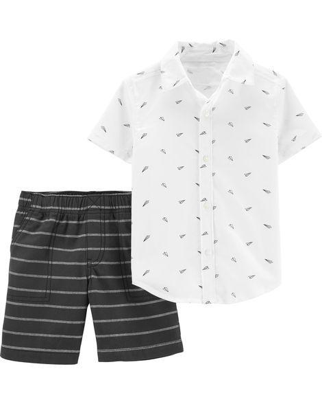 Conjunto bermuda e camisa Airplane - Carter