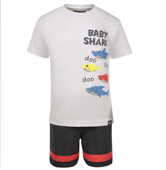 Conjunto Bermuda e Camiseta Baby shark - Vrasalon  - Kaiuru Kids