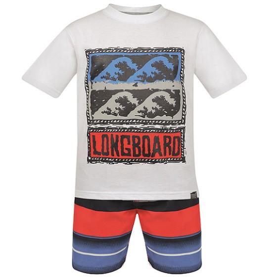 Conjunto Bermuda e Camiseta Longboard - Vrasalon  - Kaiuru Kids