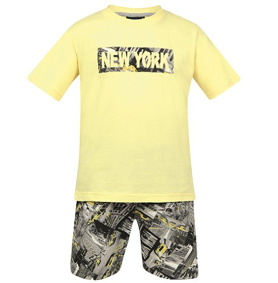 Conjunto Bermuda e Camiseta New York - Vrasalon  - Kaiuru Kids