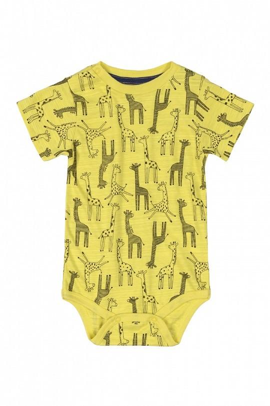 Conjunto body amarelo girafas e calça de moletom com suspensório - UP Baby  - Kaiuru Kids