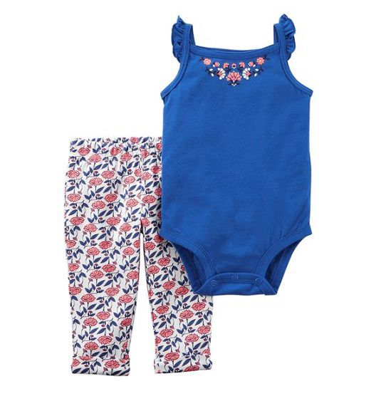 Conjunto calça e body regata azul - Carters  - Kaiuru Kids