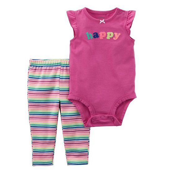 Conjunto calça e body regata Happy - Carter