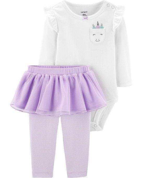 Conjunto calça tutu e body unicórnio - Carters  - Kaiuru Kids