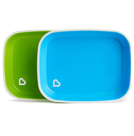 Conjunto de pratos azul/verde - Munchkin  - Kaiuru Kids