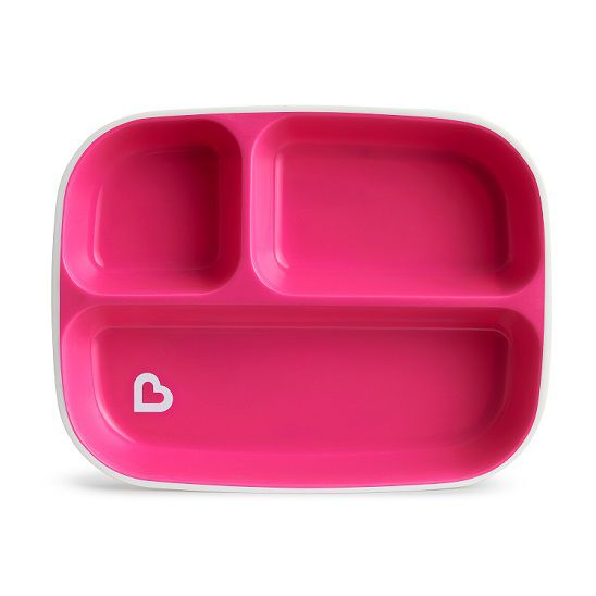 Conjunto de pratos com divisórias rosa/roxo - Munchkin  - Kaiuru Kids