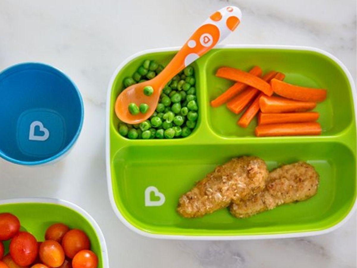 Conjunto de pratos com divisórias Splash - Munchkin  - Kaiuru Kids