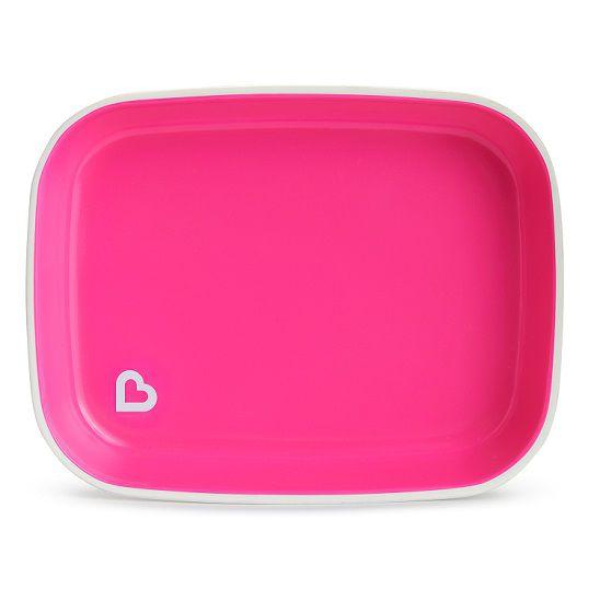 Conjunto de pratos rosa/roxo - Munchkin  - Kaiuru Kids