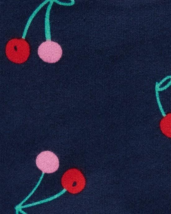 Conjunto jardineira azul marinho Cherries - Carters  - Kaiuru Kids