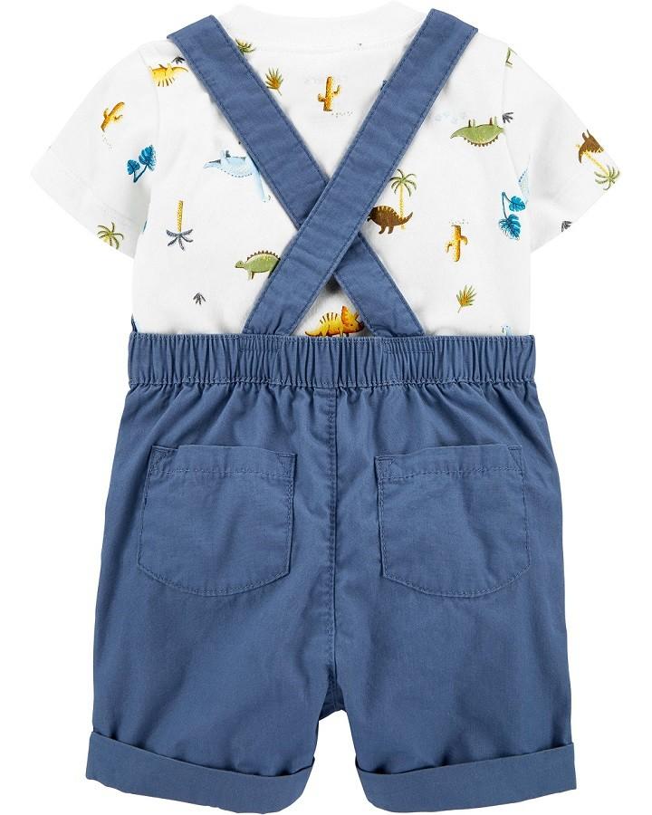 Conjunto jardineira azul roar-some - Carters  - Kaiuru Kids
