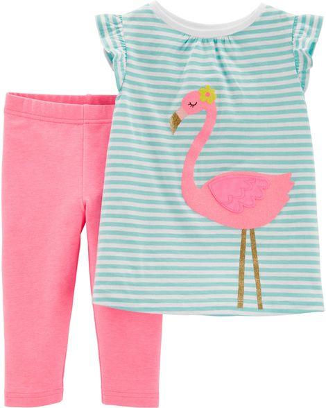 Conjunto legging capri e blusa flamingo - Carter