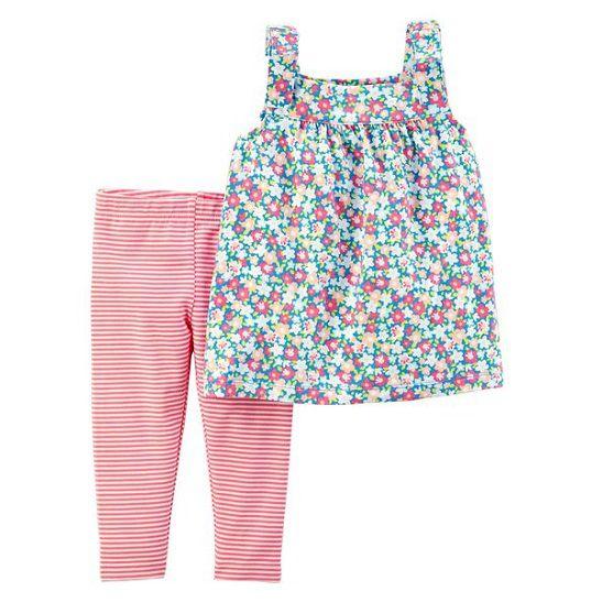 Conjunto legging capri e blusa floral - Carter
