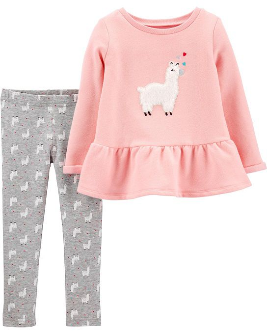 Conjunto legging e moletom fleece lhama - Carters  - Kaiuru Kids