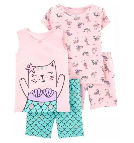 Conjunto pijamas sereia - Carters  - Kaiuru Kids
