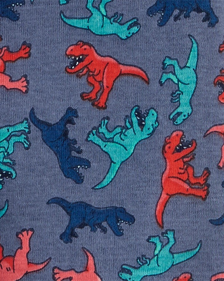 Conjunto pijamas verão azul dinossauros - Carters  - Kaiuru Kids