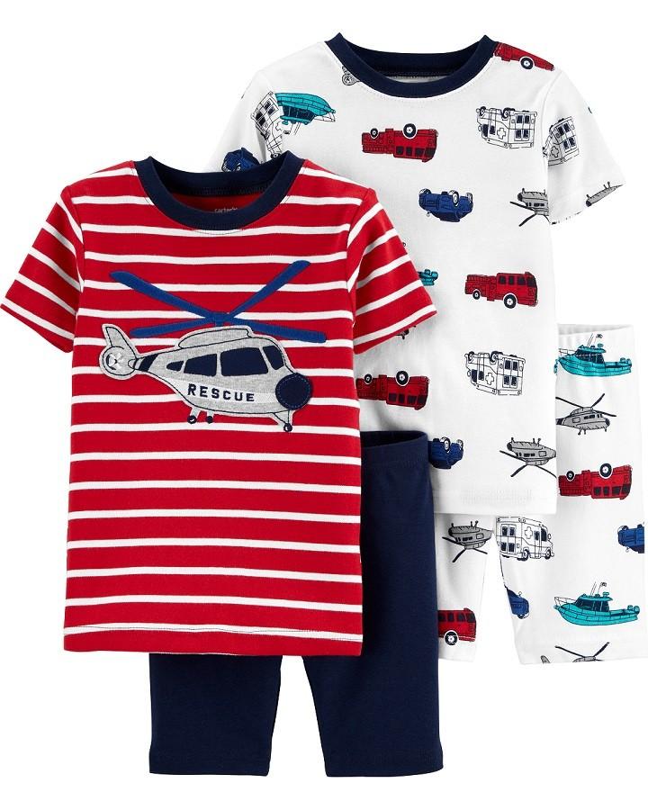 Conjunto pijamas verão vermelho helicóptero - Carters  - Kaiuru Kids