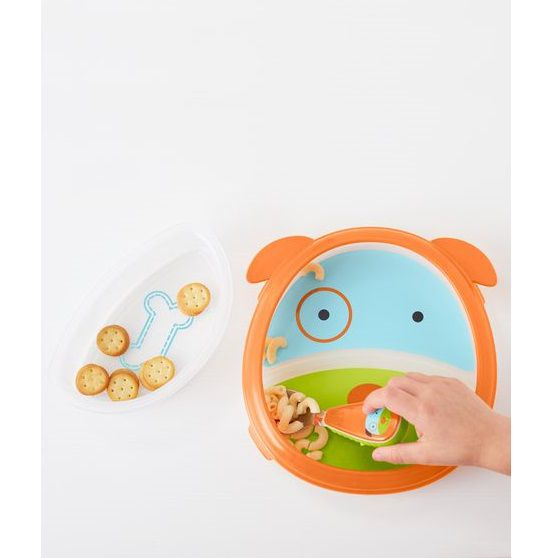 Conjunto prato e tigela smart serve Cachorro - Skip Hop  - Kaiuru Kids
