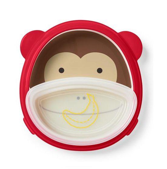 Conjunto prato e tigela smart serve Macaco - Skip Hop  - Kaiuru Kids