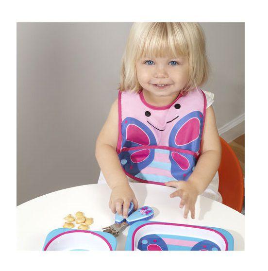 Conjunto prato raso e tigela Borboleta - Skip Hop  - Kaiuru Kids