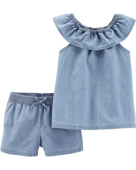 Conjunto short e blusa chambray - Carter