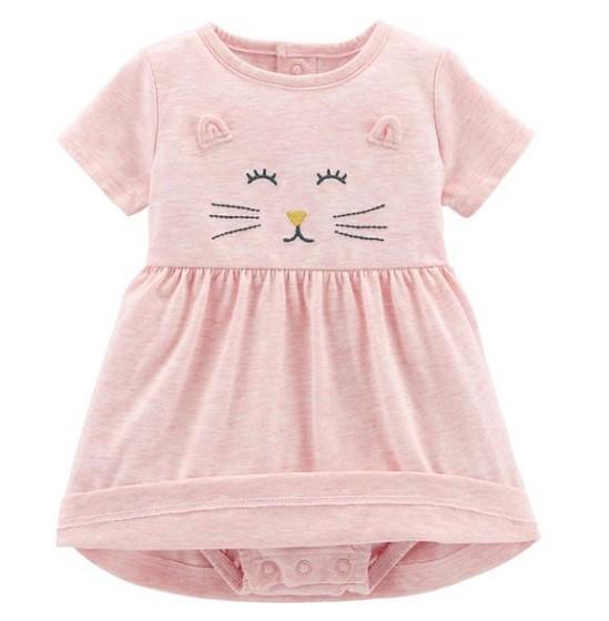 Conjunto vestido gatinha e cardigan corações - Carter