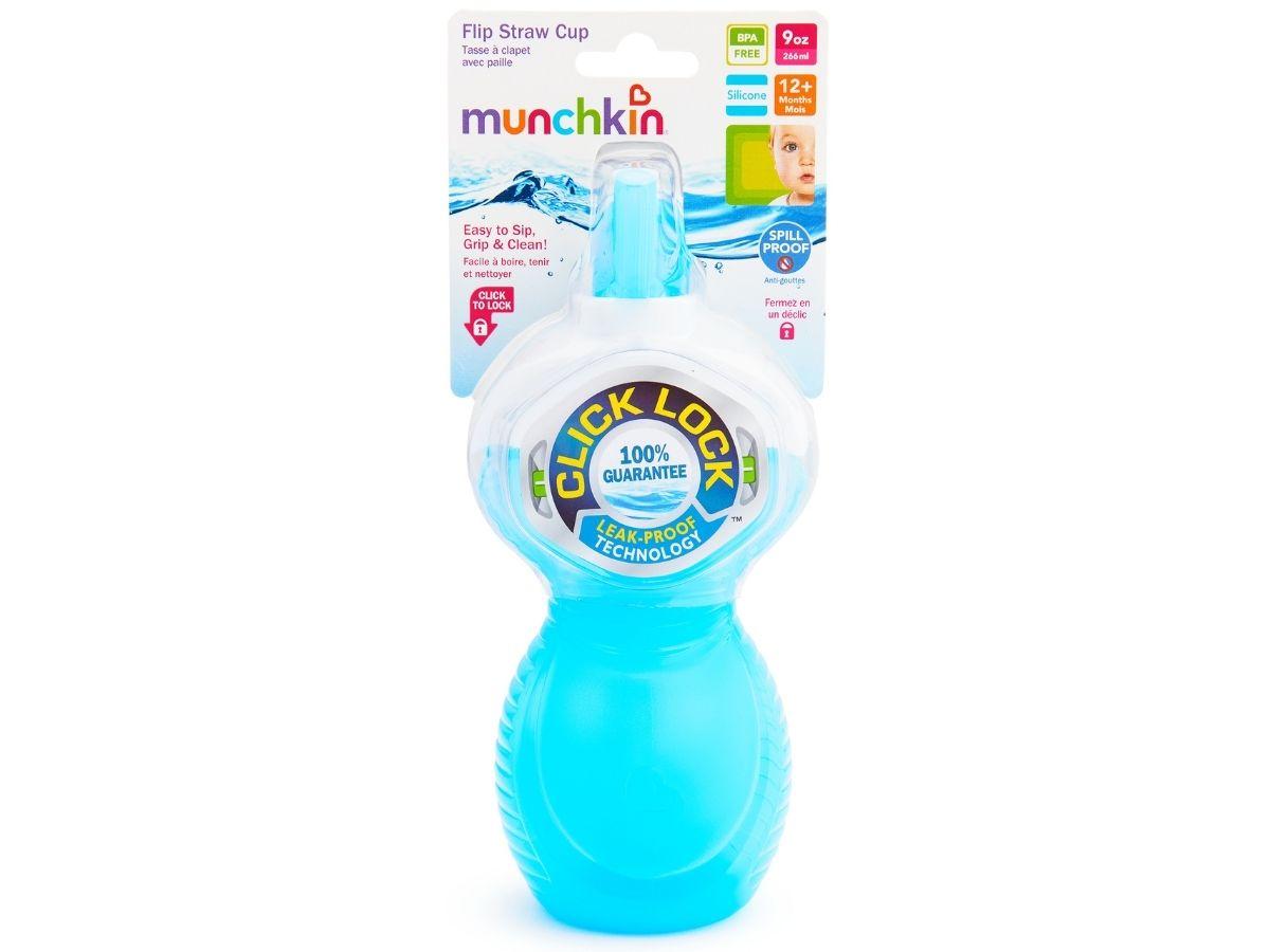 Copo de canudinho Click Lock flip 266ml (12M+) Munchkin  - Kaiuru Kids