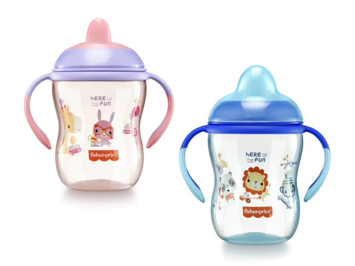 Copo de treinamento com bico semi-rígido First Moments 270ml (6M+) Fisher-Price  - Kaiuru Kids