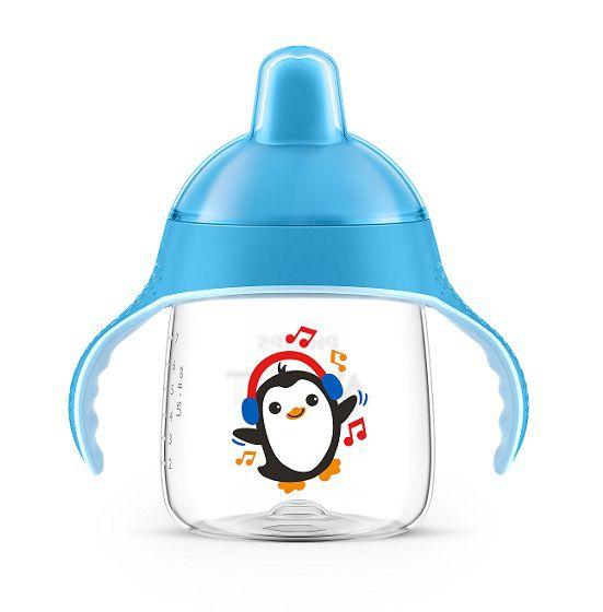 Copo de treinamento pinguim azul 260 ml - Avent  - Kaiuru Kids