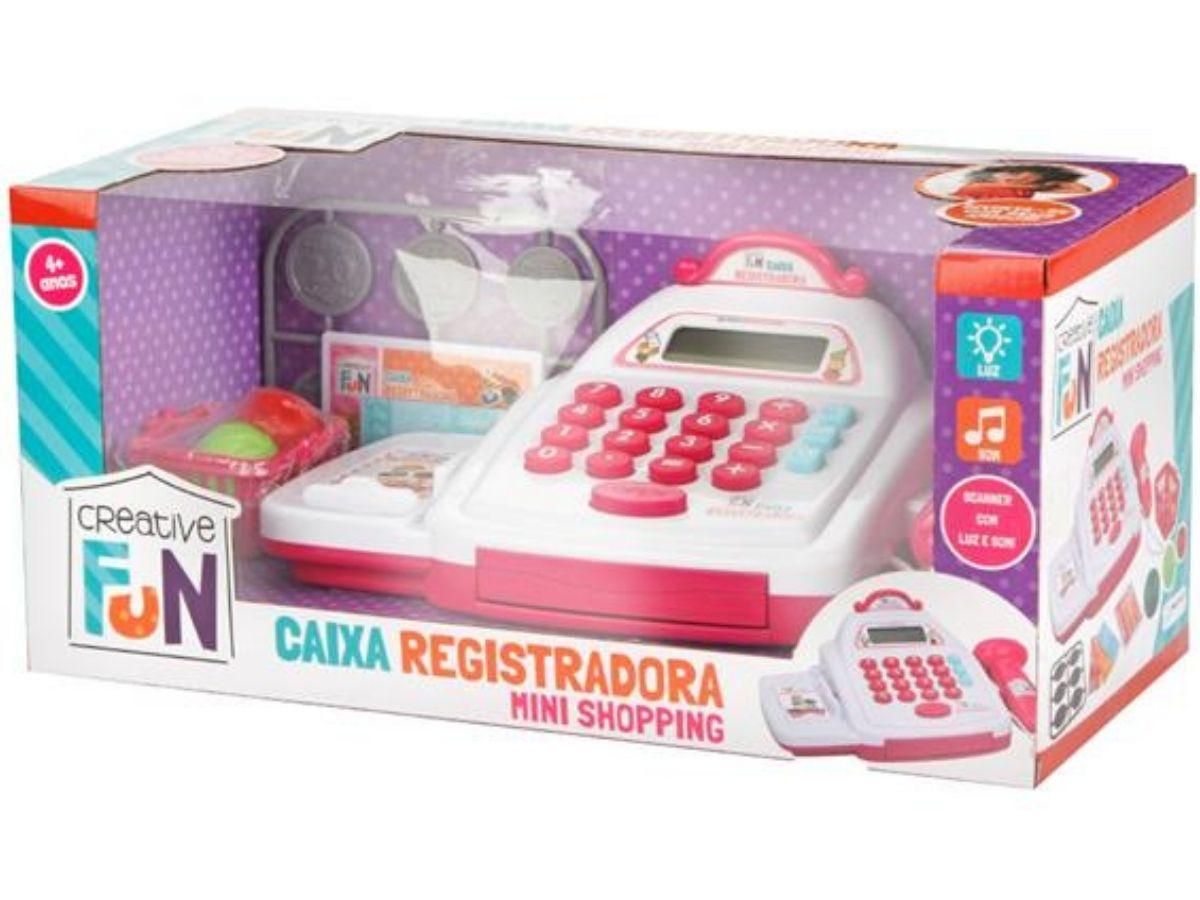Creative Fun caixa registradora mini shopping rosa 4+ anos - Multikids  - Kaiuru Kids
