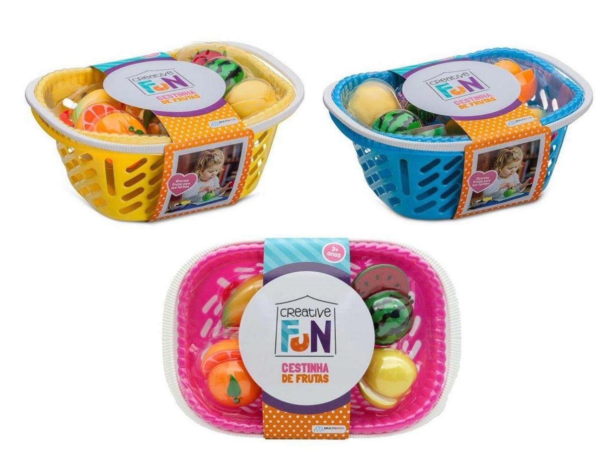 Creative Fun cestinha de 6 frutas 3+ anos - Multikids Baby  - Kaiuru Kids